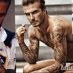 Фото тату Дэвида Бекхэма от 17.09.2018 №005 - tattoo of David Beckham - tatufoto.com