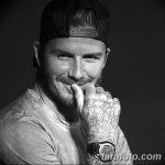 Фото тату Дэвида Бекхэма от 17.09.2018 №012 - tattoo of David Beckham - tatufoto.com