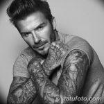 Фото тату Дэвида Бекхэма от 17.09.2018 №014 - tattoo of David Beckham - tatufoto.com