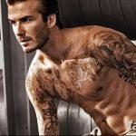 Фото тату Дэвида Бекхэма от 17.09.2018 №029 - tattoo of David Beckham - tatufoto.com