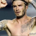 Фото тату Дэвида Бекхэма от 17.09.2018 №035 - tattoo of David Beckham - tatufoto.com