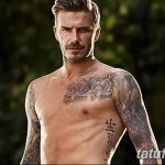 Фото тату Дэвида Бекхэма от 17.09.2018 №050 - tattoo of David Beckham - tatufoto.com