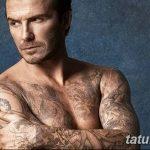 Фото тату Дэвида Бекхэма от 17.09.2018 №051 - tattoo of David Beckham - tatufoto.com