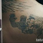 Фото тату Дэвида Бекхэма от 17.09.2018 №056 - tattoo of David Beckham - tatufoto.com
