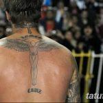 Фото тату Дэвида Бекхэма от 17.09.2018 №071 - tattoo of David Beckham - tatufoto.com