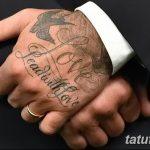 Фото тату Дэвида Бекхэма от 17.09.2018 №073 - tattoo of David Beckham - tatufoto.com