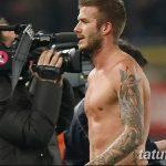 Фото тату Дэвида Бекхэма от 17.09.2018 №074 - tattoo of David Beckham - tatufoto.com