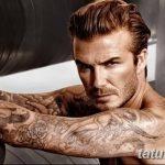 Фото тату Дэвида Бекхэма от 17.09.2018 №075 - tattoo of David Beckham - tatufoto.com