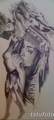 Фото тату волк и перо от 21.09.2018 №010 – tattoo wolf and feather – tatufoto.com