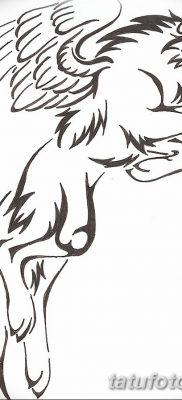 Фото тату волк и перо от 21.09.2018 №024 – tattoo wolf and feather – tatufoto.com