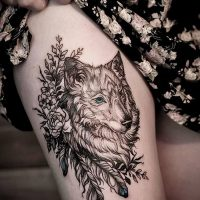 Значение тату «волк с перьями»