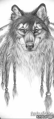 Фото тату волк и перо от 21.09.2018 №055 – tattoo wolf and feather – tatufoto.com