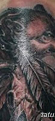 Фото тату волк и перо от 21.09.2018 №076 – tattoo wolf and feather – tatufoto.com