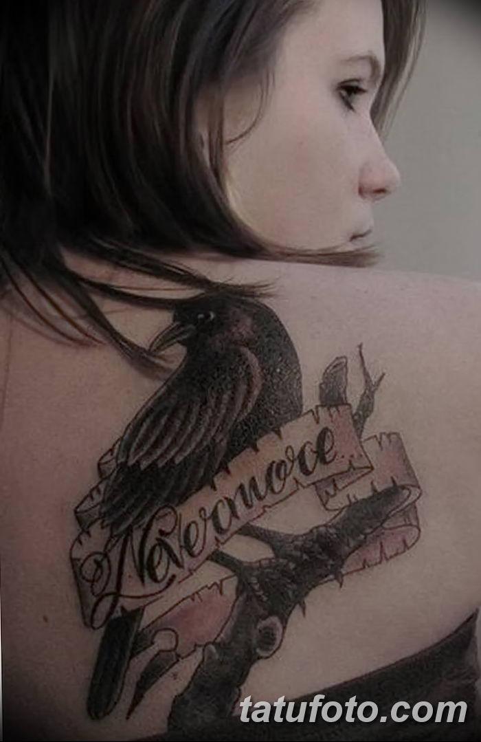 Фото тату ворон от 15.09.2018 №002 - raven tattoos - tatufoto.com