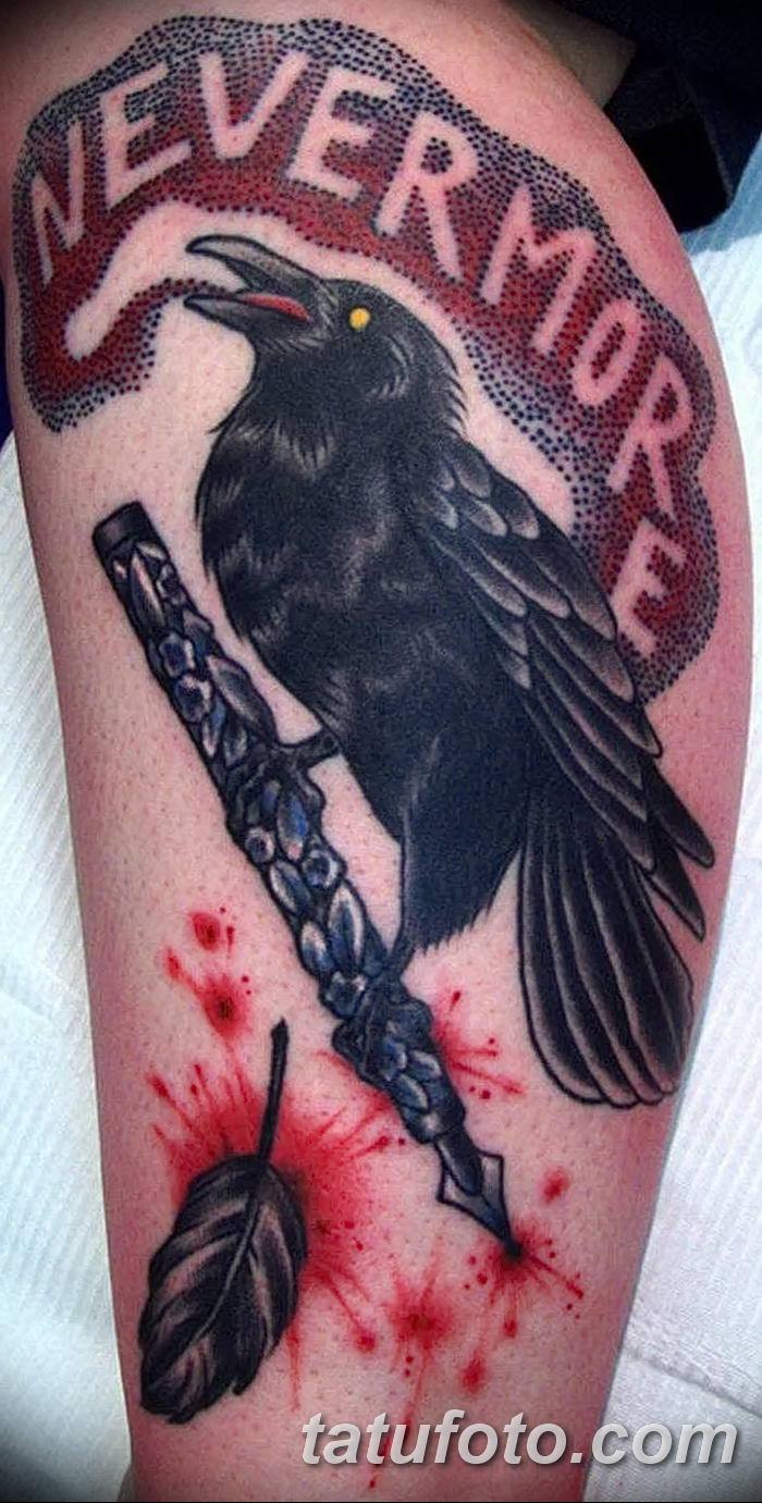 Фото тату ворон от 15.09.2018 №018 - raven tattoos - tatufoto.com