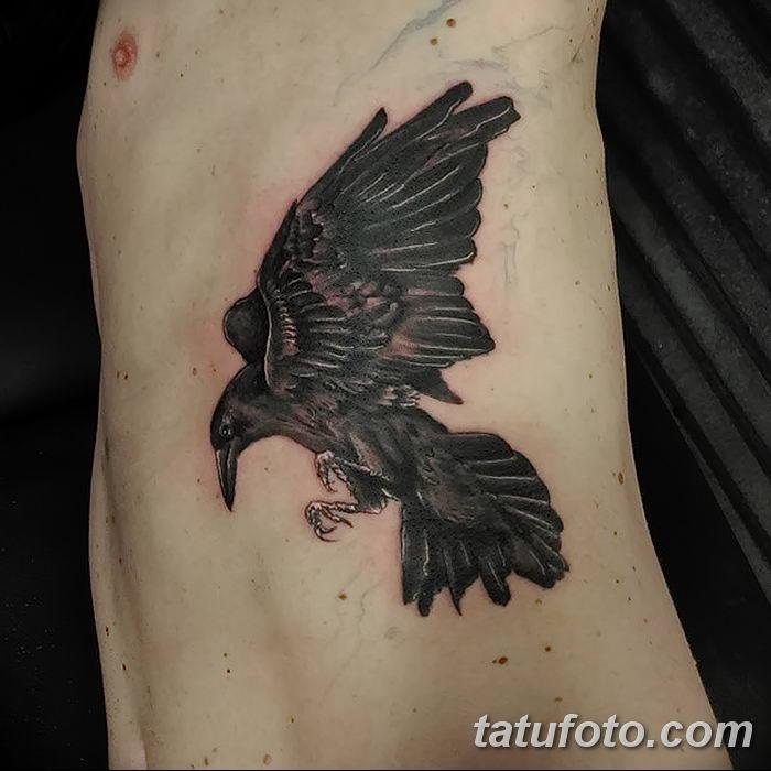 Фото тату ворон от 15.09.2018 №026 - raven tattoos - tatufoto.com