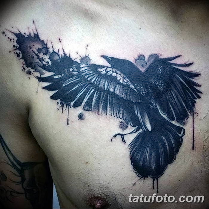 Фото тату ворон от 15.09.2018 №031 - raven tattoos - tatufoto.com