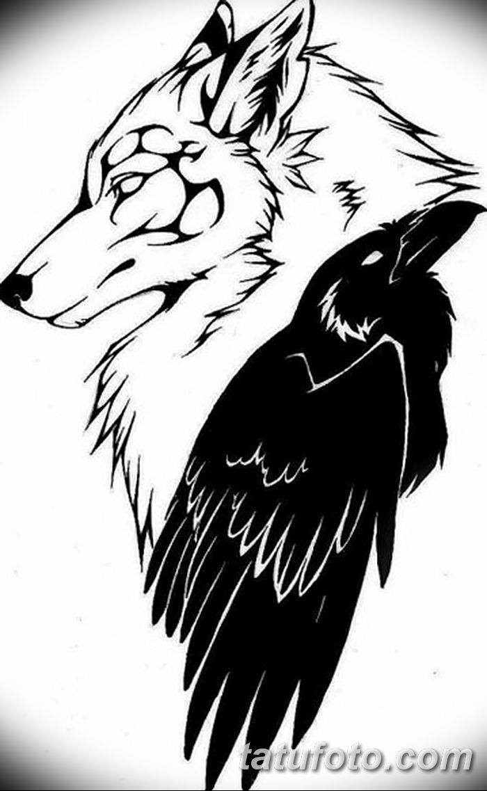 Фото тату ворон от 15.09.2018 №049 - raven tattoos - tatufoto.com