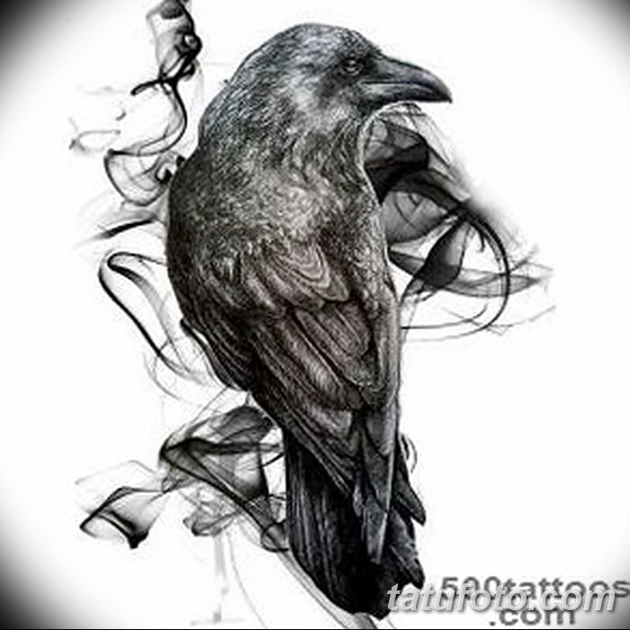 Фото тату ворон от 15.09.2018 №050 - raven tattoos - tatufoto.com