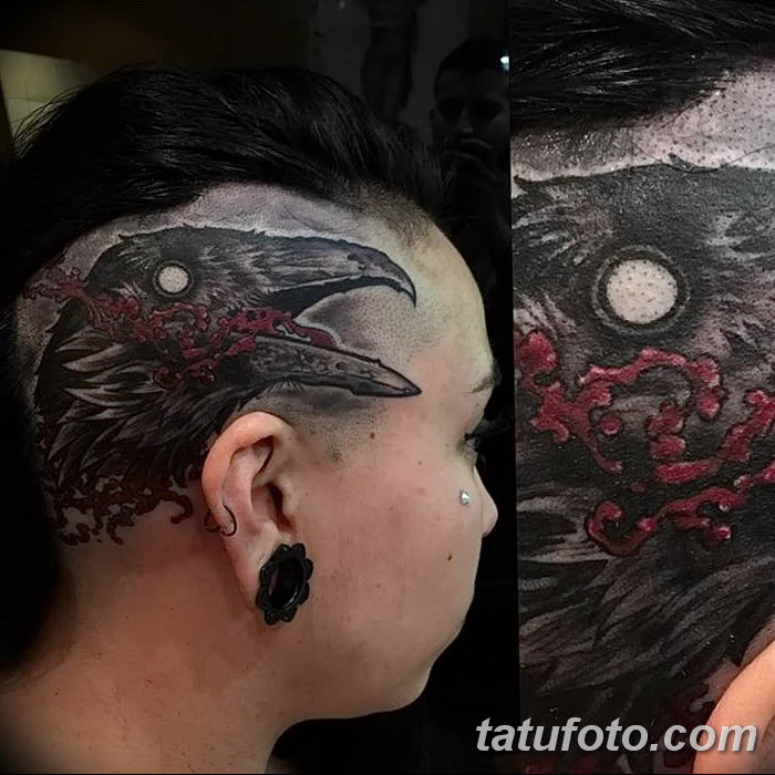 Фото тату ворон от 15.09.2018 №053 - raven tattoos - tatufoto.com