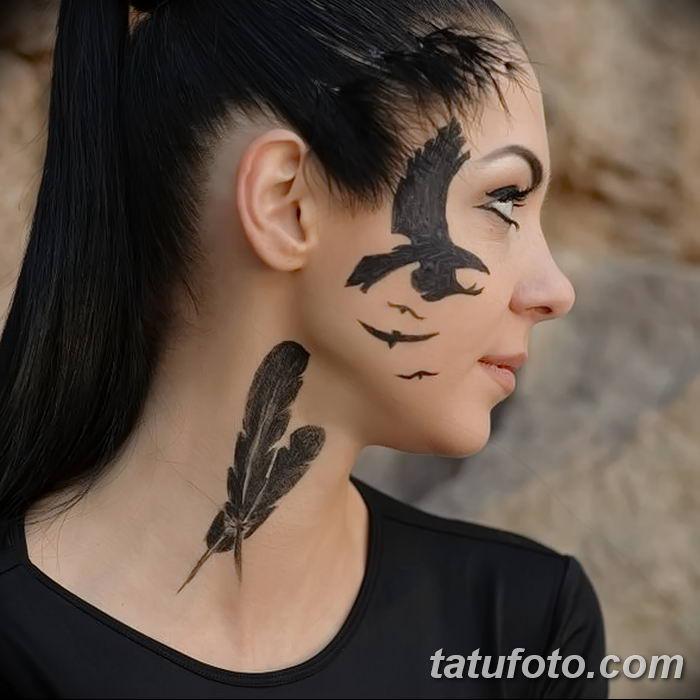 Фото тату ворон от 15.09.2018 №055 - raven tattoos - tatufoto.com