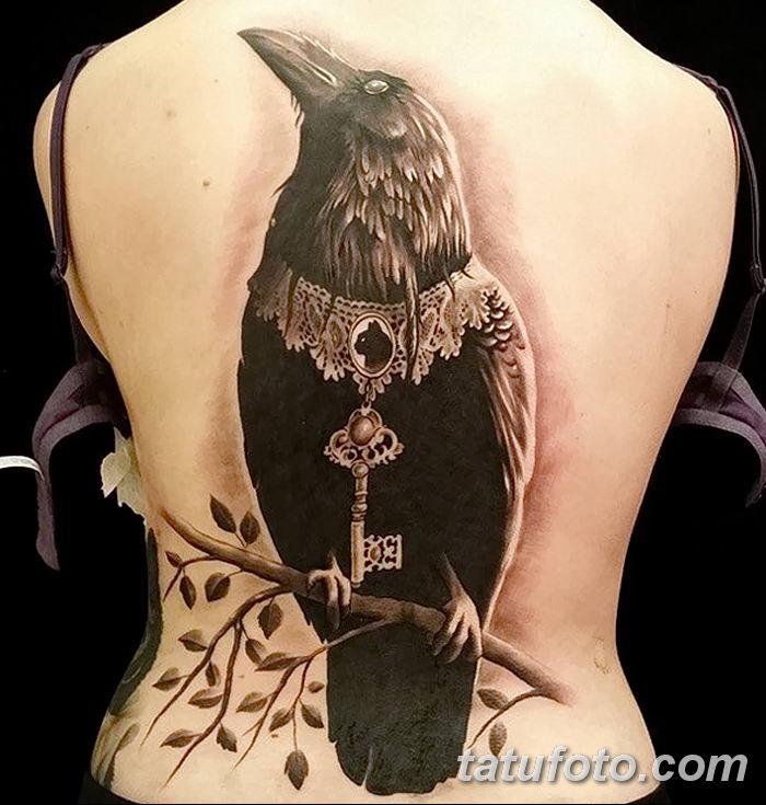 Фото тату ворон от 15.09.2018 №057 - raven tattoos - tatufoto.com