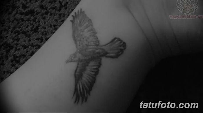 Фото тату ворон от 15.09.2018 №063 - raven tattoos - tatufoto.com