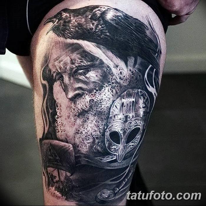 Фото тату ворон от 15.09.2018 №072 - raven tattoos - tatufoto.com