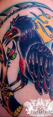 Фото тату ворон от 15.09.2018 №125 – raven tattoos – tatufoto.com