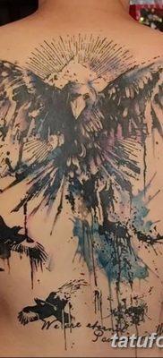 Фото тату ворон от 15.09.2018 №129 – raven tattoos – tatufoto.com