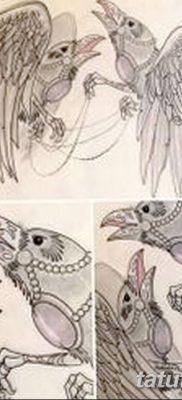 Фото тату ворон от 15.09.2018 №133 – raven tattoos – tatufoto.com