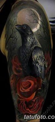 Фото тату ворон от 15.09.2018 №135 – raven tattoos – tatufoto.com