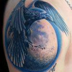 Фото тату ворон от 15.09.2018 №136 - raven tattoos - tatufoto.com