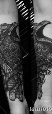 Фото тату ворон от 15.09.2018 №137 – raven tattoos – tatufoto.com