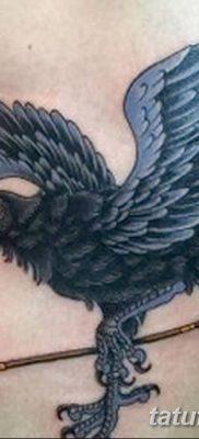Фото тату ворон от 15.09.2018 №141 – raven tattoos – tatufoto.com