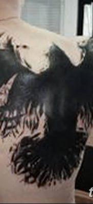 Фото тату ворон от 15.09.2018 №146 – raven tattoos – tatufoto.com