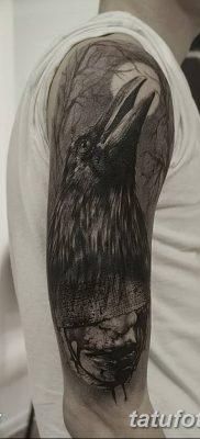 Фото тату ворон от 15.09.2018 №147 – raven tattoos – tatufoto.com