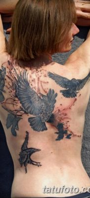 Фото тату ворон от 15.09.2018 №157 – raven tattoos – tatufoto.com