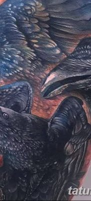 Фото тату ворон от 15.09.2018 №161 – raven tattoos – tatufoto.com