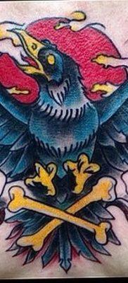 Фото тату ворон от 15.09.2018 №163 – raven tattoos – tatufoto.com
