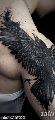 Фото тату ворон от 15.09.2018 №185 – raven tattoos – tatufoto.com