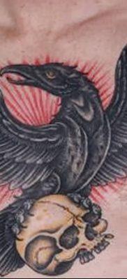 Фото тату ворон от 15.09.2018 №194 – raven tattoos – tatufoto.com