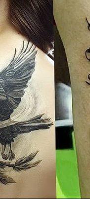 Фото тату ворон от 15.09.2018 №201 – raven tattoos – tatufoto.com