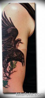 Фото тату ворон от 15.09.2018 №203 – raven tattoos – tatufoto.com