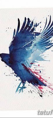 Фото тату ворон от 15.09.2018 №210 – raven tattoos – tatufoto.com