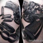 Фото тату кастет от 11.09.2018 №009 - tattoo brass knuckles - tatufoto.com
