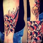 Фото тату кастет от 11.09.2018 №016 - tattoo brass knuckles - tatufoto.com