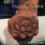 Фото тату кастет от 11.09.2018 №025 - tattoo brass knuckles - tatufoto.com