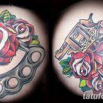 Фото тату кастет от 11.09.2018 №026 - tattoo brass knuckles - tatufoto.com