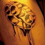 Фото тату кастет от 11.09.2018 №032 - tattoo brass knuckles - tatufoto.com